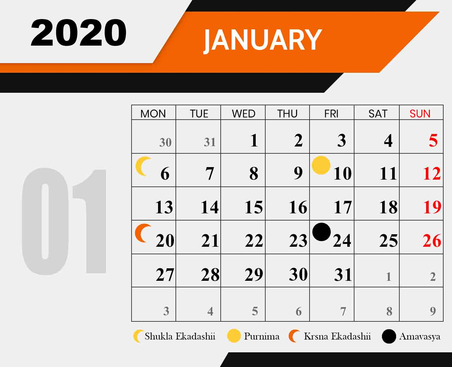 Ananda-Marga-Fasting-Chart-january-2020