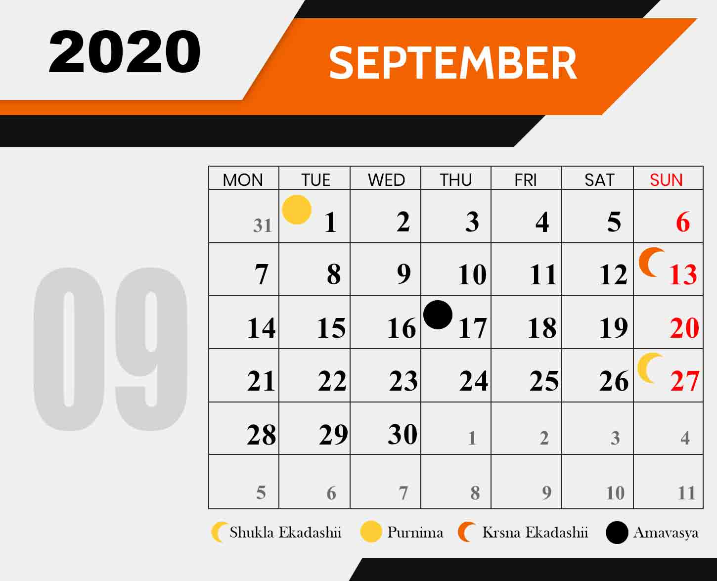 Ananda-Marga-Fasting-Chart-september-2020
